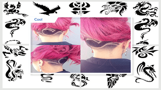 Artistic Hair Tattoo Design - náhled