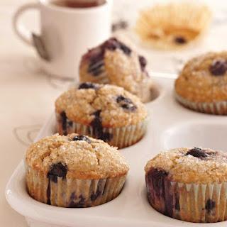 Oat Bran–Banana-Blueberry Muffins Recipe