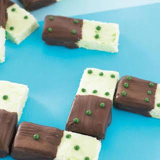 Chocolate Mint Dominoes.