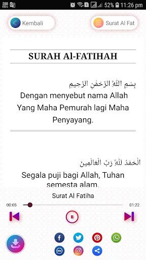 Surat Al Fatihah Mp3 Merdu Dan Artinya App Report On Mobile