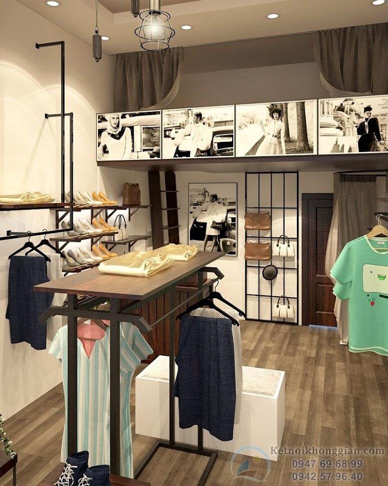 thiết kế cửa hàng thời trang cao cấp tại phố cổ