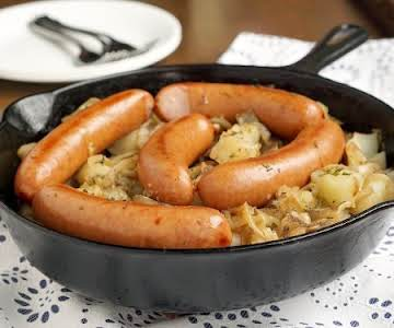 Polish Sausage and Sauerkraut Hash