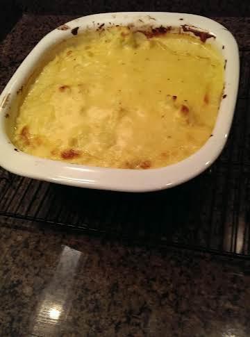 Baked Cheesy Cauliflower Casserole