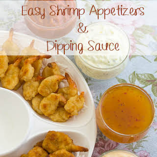Easy Fried Shrimp Appetizer with 4 Dipping Sauce Recipes.