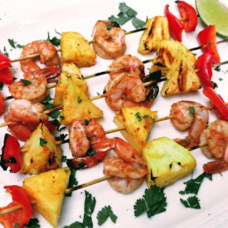 Chili Lime Smoked Shrimp and Pineapple Skewers and Giveaway Recipe