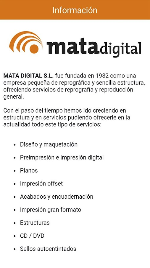 Mata Digital: captura de pantalla
