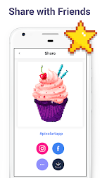 Pixel Art: Color by Number Game APK screenshot thumbnail 11