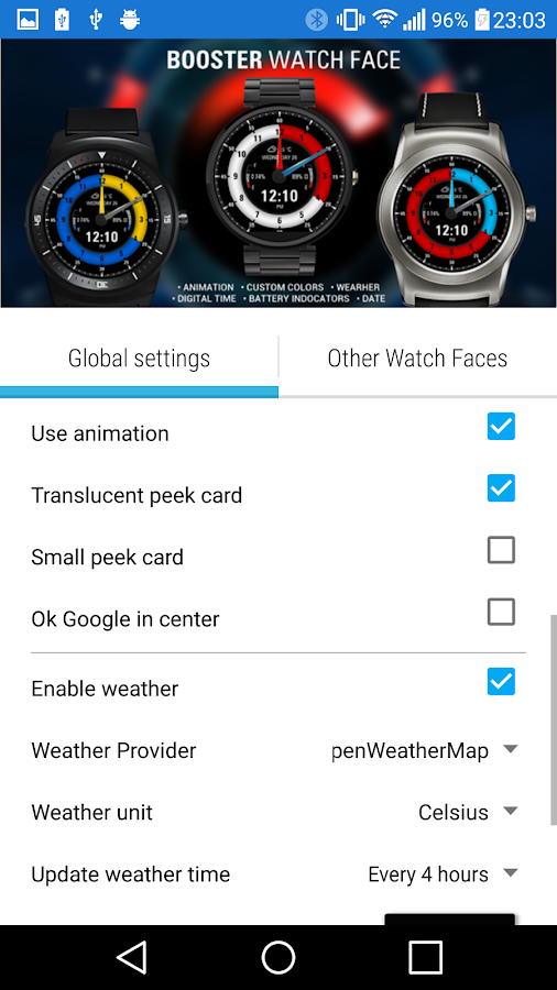 Booster Watch Face- screenshot