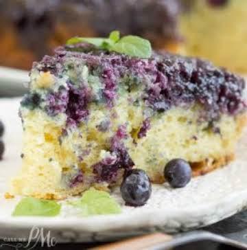 Homemade Blueberry Upside-down Cake