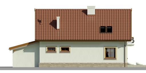 Dom przy Alabastrowej 18 - Elewacja tylna