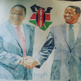 Uhuru and Raila by Reagan Muriuki - Drawing All Drawing ( #art #portrait #colouredpencilart #drawing #illustration )