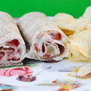 Fancy Ham and Tomato Wrap.