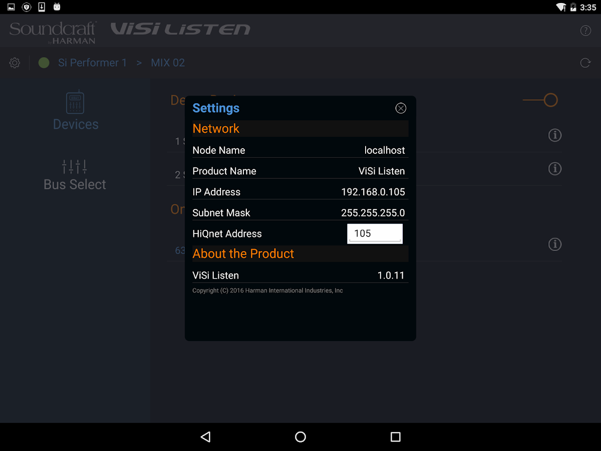 ViSi Listen- screenshot
