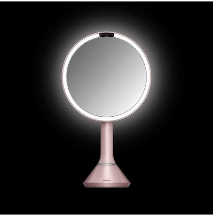 Sensorstyrd Sminkspegel med Belysning Simplehuman  5x Förstoring, reglerbar ljusstyrka via touch, rosa