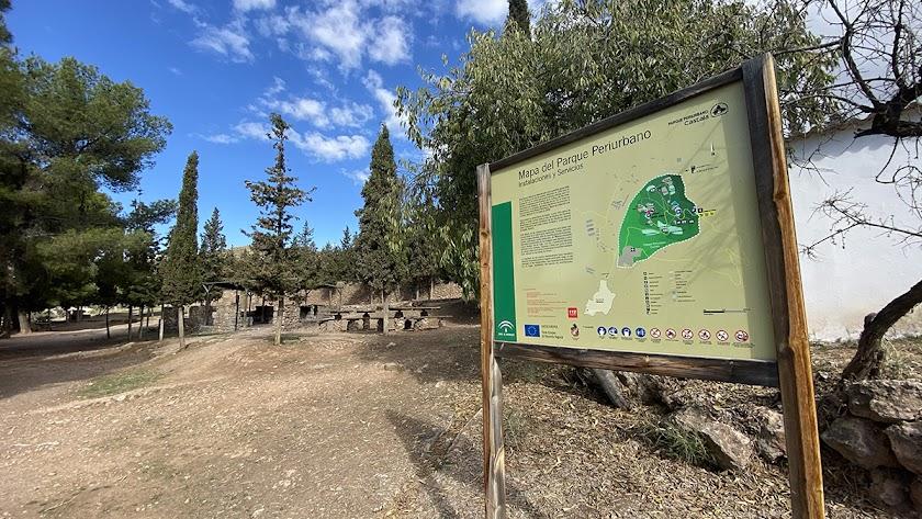 Imagen del Parque de Castala con la zona de barbacoas