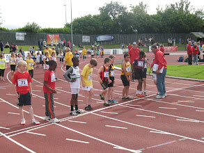 Photo: Start of Heat 2 of the Boys U/10 300m Gala at the Cork City Sports