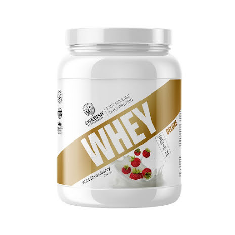 Swedish Supplements Whey Deluxe Protein 1kg - Wild Strawberry
