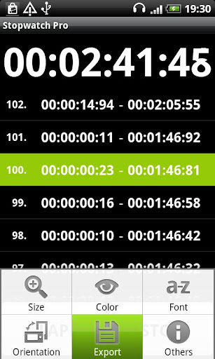 Simple Stopwatch Pro screenshot 1