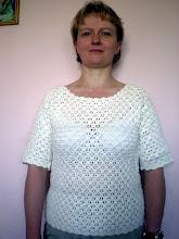 Photo: moja pierwsza w życiu bluzka na szydełku
