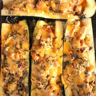 Cheesy Chicken Italian Style Zucchini Boats