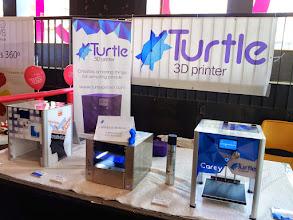 Photo: Stand de Turtle printer con sus pequeños prototipos