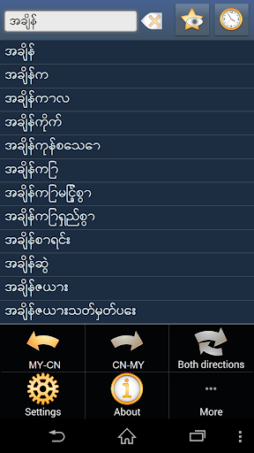 Myanmar Chinese Simplified dic