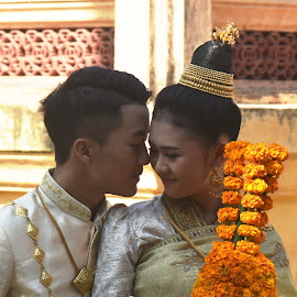 Together. Forever. You and Me. by Marcel Cintalan - Wedding Bride & Groom ( love, bride and groom, happiness, young, wedding, laos, forever )