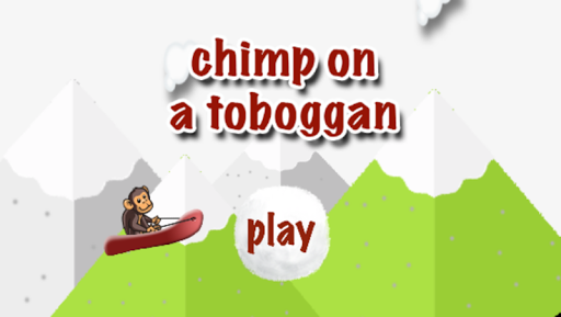 chimp on a toboggan