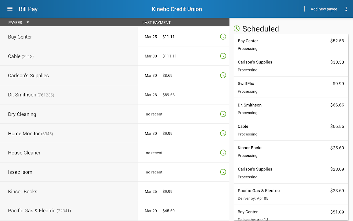Kinetic Credit Union- screenshot