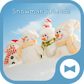Cute Wallpaper Snowman Friends Theme