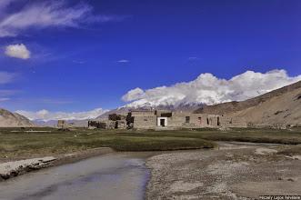 Photo: Szubasi , A Muztágata tövében , Péczely Lajos, Subashi, Kirgíz falu a Pamírban