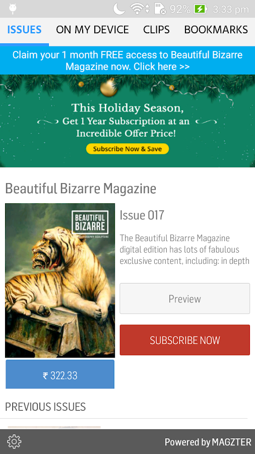 Beautiful Bizarre Magazine- screenshot