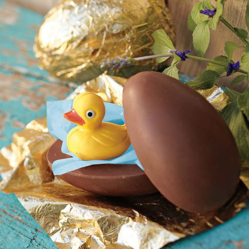 Photo: Chocolate Egg with Duckling - To shop all Easter Food, go to: http://bit.ly/H0H0Vp