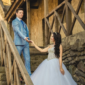 Ma&Mi by Vlada Jovic - Wedding Bride & Groom ( love, beograd, castle, couple, bride and groom, bride, posing, photo, groom, photography, shooting )