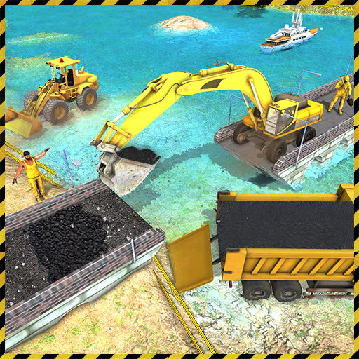 Real City Road River Bridge Construction Game Android APK Download Free By Game Star Sim Studios