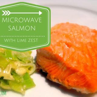 Microwave Salmon and Lime