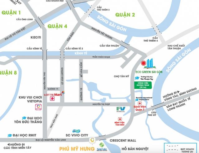 Tìm hiểu vị trí của dự án Eco Green Sài gòn quận 7
