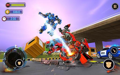 US Robot Car Transform - Police Robot Fighting 1.0.1 screenshots 7