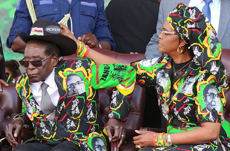 Robert Mugabe and his wife Grace. Picture: REUTERS/PHILIMON BULAWAYO