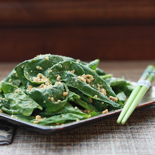 Asian Spinach Salad with Peanuts.