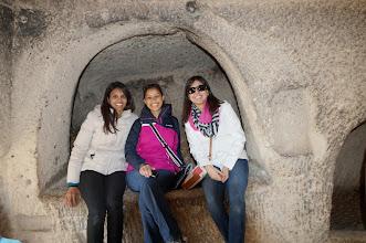 Photo: Inside a cave in Cappadocia