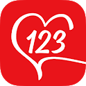Free to register chat dating app - 123 Date Me icon