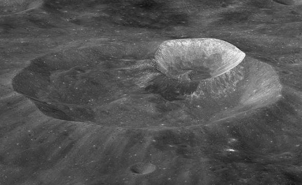 Image result for NASA orbiter spots water molecules moving around the dayside of moon
