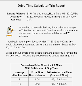 Drive Time Calculator >> Download Drive Time Calculator Apk Latest Version App For Android