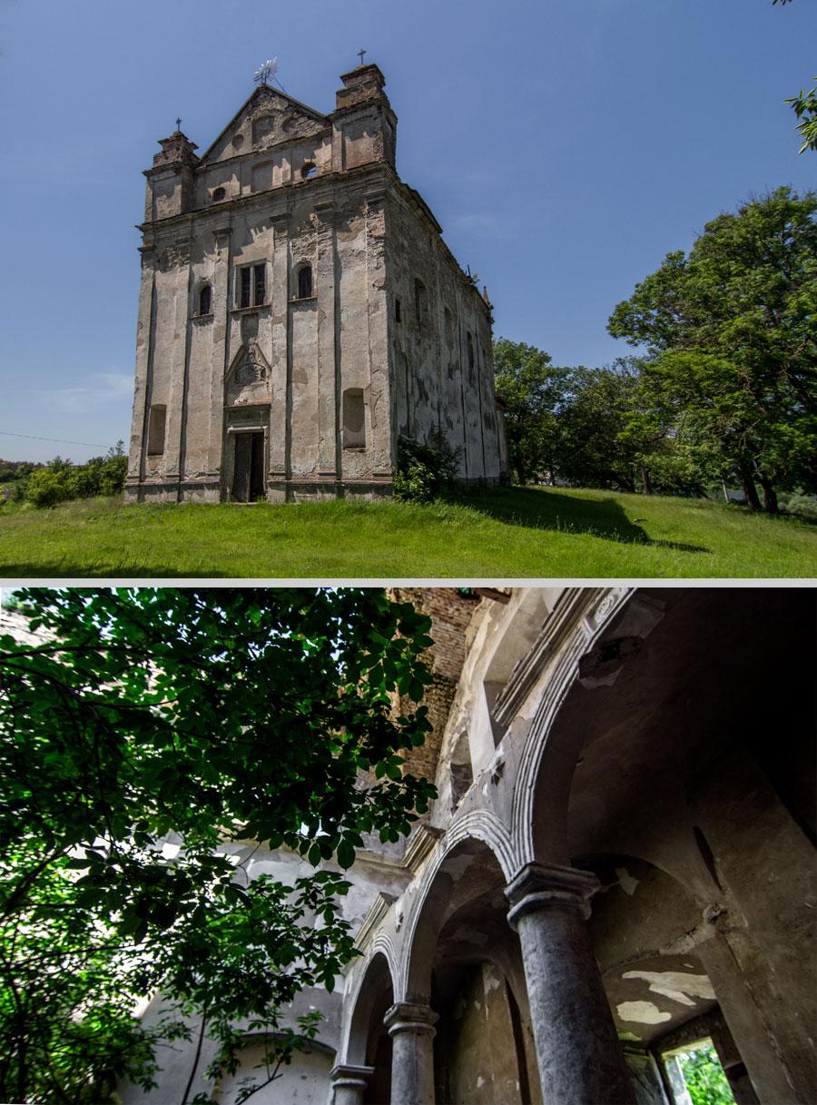 Костел Непорочного Зачатия Девы Марии. Этот храм оборонного типа возвели в 1708-м. Сегодня внутри можно снимать кино о заброшенных городах в джунглях Индии