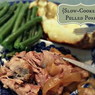 {Slow-Cooker} Pulled Pork.