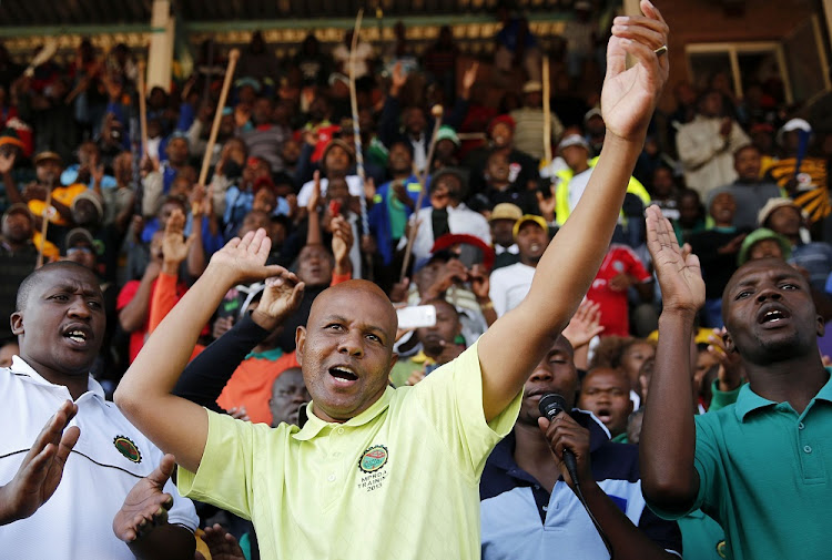 Tension: Amcu general secretary Joseph Mathunjwa says that despite having settled the union's outstanding debt, the National Council of Trade Unions relegated Amcu to observer status before halting the congress. Picture: REUTERS