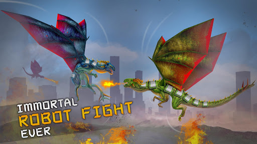 Deadly Flying Dragon Attack : Robot Games apkpoly screenshots 12