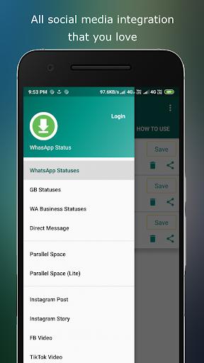 Status download and Status Saver 1.32 screenshots 1