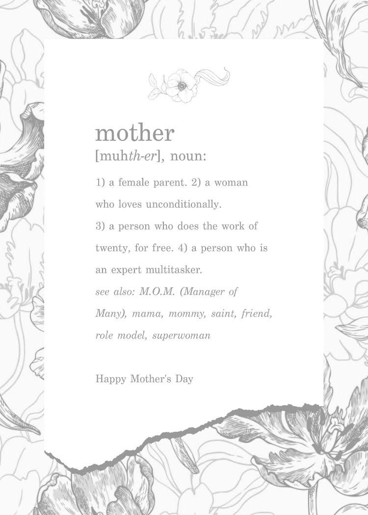Multitasker Mother - Mother's Day Card Template